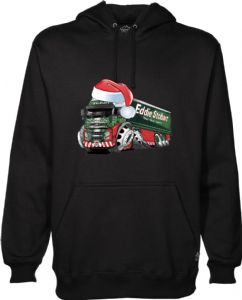 XMAS KOOLART SANTA HAT CHRISTMAS Design For Eddie Stobart Volvo FH12 Truck Hoodie Hooded Top
